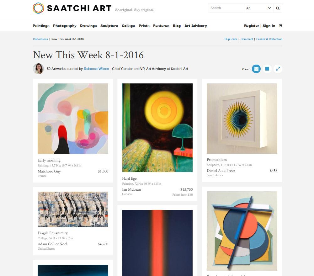 Collier Noel Saatchi features Adam Collier Noel | MAC Art Galleries