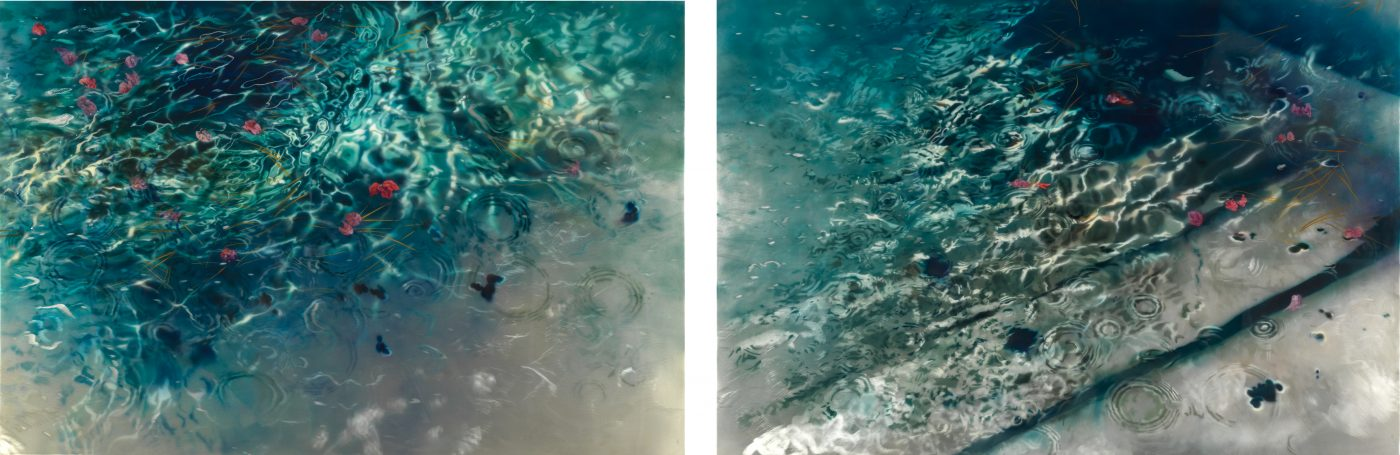 Swimming Pool Shimmer Diptych Mac Fine Art