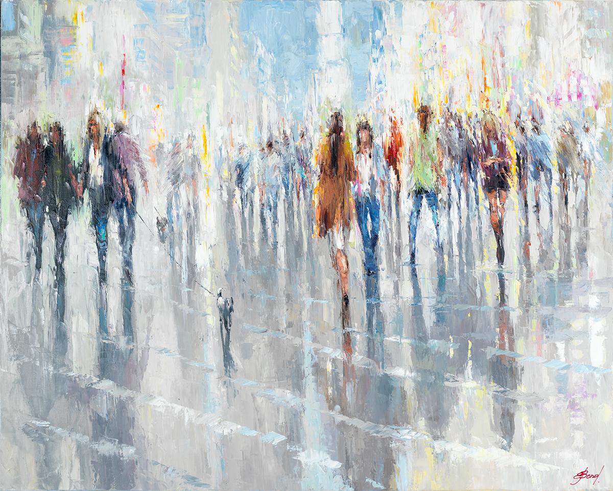 The Feet Of People Walking Home Mac Fine Art