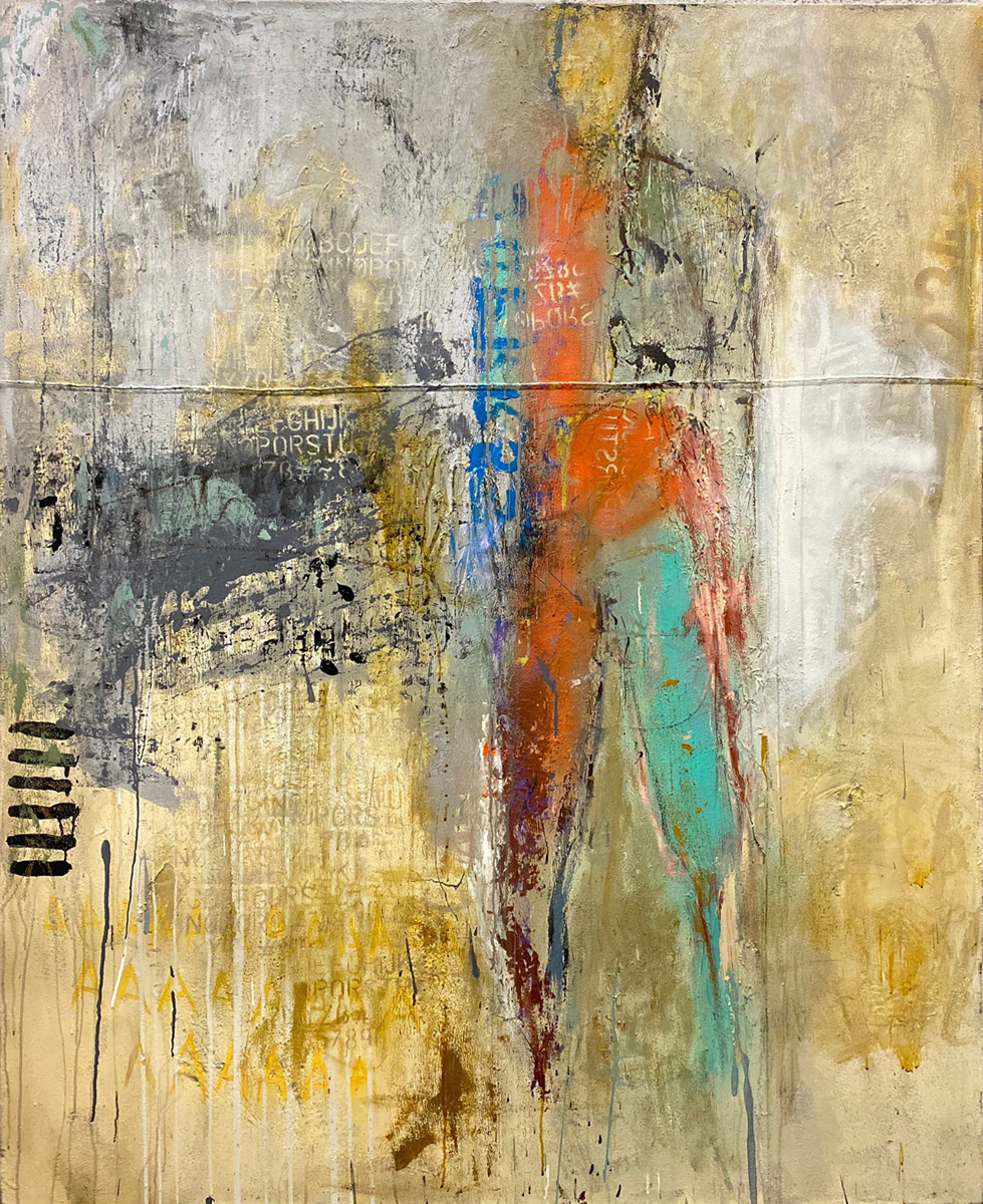 Replica - Mixed Media on Canvas Fine Art